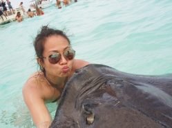 Kiss a stingray gives you 7 years of good luck.